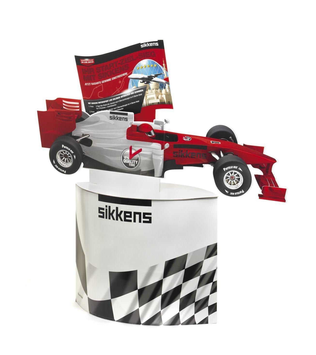 Formel 1 Bodenaufsteller